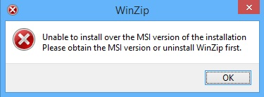 Fixing WinZip MSI error when sequencing with AppV 5.x